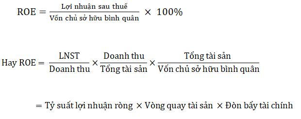 Phương trình dupont tính roe